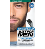 JUST FOR MEN - POUR MOUSTACHE, BARBE GEL DE COULEUR BRUSH-IN ( Noir foncé Noir) M45
