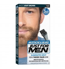 JUST FOR MEN - POUR MOUSTACHE, BARBE GEL DE COULEUR BRUSH-IN (Brun clair) M25