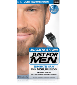 JUST FOR MEN - POUR MOUSTACHE, BARBE GEL DE COULEUR BRUSH-IN (Léger brun moyen) M30
