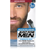 JUST FOR MEN - POUR MOUSTACHE, BARBE GEL DE COULEUR BRUSH-IN (brun moyen) M35