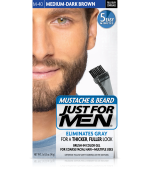 JUST FOR MEN - POUR MOUSTACHE, BARBE GEL DE COULEUR BRUSH-IN (Moyen - brun foncé) M40