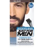 JUST FOR MEN - POUR MOUSTACHE, BARBE GEL DE COULEUR BRUSH-IN (vrai noir) M55