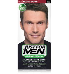 JUST FOR MEN - SHAMPOOING COULEUR Couleur: Marron moyen H35