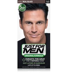 JUST FOR MEN - SHAMPOOING COULEUR Couleur: vrai noir H55